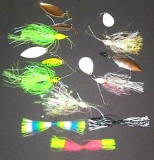 Manufacturer's Mix 3/8-3/4 Spinner Bait Package (Lot of 5+3 Extra Skirts-SB14)