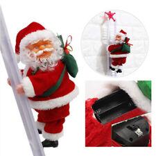 Santa Claus DIY Music Electric Climbing Ladder Christmas Home Ornament Hanging