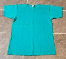 Vtg 80'S Champion Usa Made Blank Green T Shirt Sz M