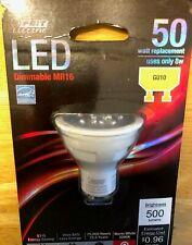 2 Feit LED GU10 MR16 Dimmable 8 Watt No. BPMR16/GU10/500/LED 50 Watt Replacement