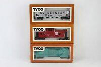 Vintage Tyco HO Scale Lot SANTA FE 312E - Virginian 344C - Caboose 328J W/ boxes