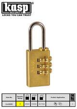 Kasp 20mm Latón Combinación números dígitos candado seguridad Equipaje/CANDADO