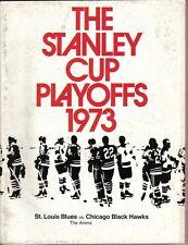 1973 (Apr.7) Hockey Program, Chicago Black Hawks @ St. Louis Blues~Stanley Cup