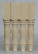 Set of 4 Solid Pine Farmhouse Coffee Table Legs 69*69*425mm EX 3""