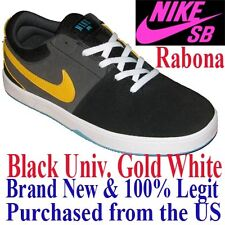 Nike SB RABONA Women's SIZE 7.5 - BLACK YELLOW Skateboard Shoes Skate Sneaker