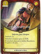 A Game of Thrones 2.0 LCG - 1x Widow's Wail  #096 - Base Set - Second Edition