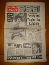 MELODY MAKER 1962 AUG 25 SHIRLEY BASSEY SAMMY DAVIS