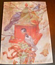 Indoor Outdoor Decorative Flag Donna Race Birdhouse With Birds