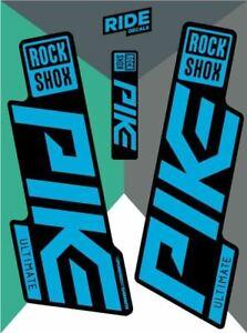 RockShox Pike Ultimate 2019 Stealth Blue Replica Decals