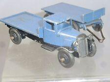 Vintage DINKY TOYS modèle No.25t Wagon plat & Trailer (Version bleue) RARE