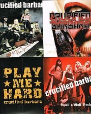 """CRUCIFIED BARBARA - SET OF 4 LIMITED EDITION (300 ONLY EACH) 7"""" SINGLES"""