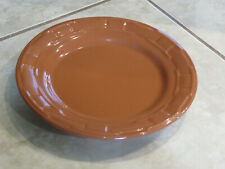 "New ListingLongaberger Pottery Woven Traditions Round Dinner Plate 10"" Spice Burnt Orange +"
