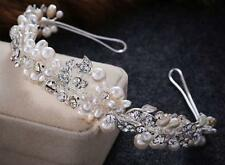 Crystal Bridal Dress Accessories Floral Beaded Wedding Alice band Pearl Headband