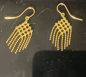 Tiffany & Co Estate Elegant 18k YellowGold Fringe Bead Dangle Earrings (RARE)
