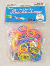Stretch Band Bracelet Loom Loops and S-Clips NEON Mix 156 pieces Kids Favors BZ