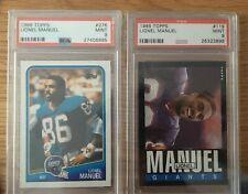 Lionel Manuel PSA 9 Graded Lot Topps 1988 & 1985 NY Giants