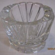 Avon clear heavy glass votive candle holder b37