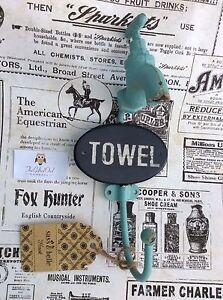 SASS & BELLE TOWEL TAP HOOK DUCK EGG BLUE IRON VINTAGE BOUDOIR STYLE HOME DECOR