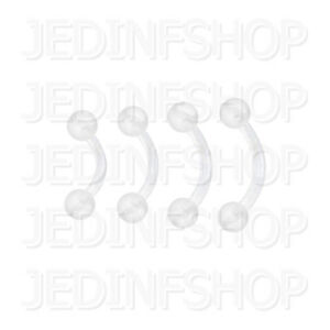 Retainer - Curved Bar | 1.2mm (16g) - 6mm 8mm 10mm 12mm | BioFlex - Balls Spikes
