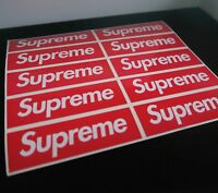 Supreme Red Box Logo Skate Stickers x10 - Vinyl Laptop / Phone Sticker Supreme