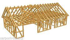 Fachwerk Pferdestall - Mainz, Satteldach + Gaube KVH - 13,00 x 7,00 als Bausatz