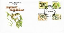 Australia FDC 1982 SG782 790 799 801 Reptiles and Amphibians
