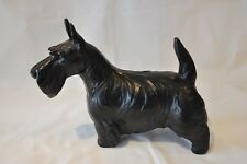 Jan Allan Rare Large Black Terrier Dog Sculpture Signed