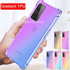 For OnePlus Nord N10 5G 9 Pro 8T Gradient Soft Silicone Slim TPU Back Case Cover