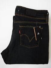 LEVI'S 570 jeans femme stretch coupe droite Strauss W30 L30 Bleu Foncé # levh 058