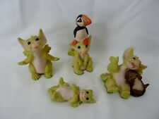 Whimsical World of Pocket Dragons - He Ain't Heavy Hes My Puffin Etc x 4