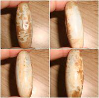 Unusual Tibet Dzi bead Old Agate Gzi Lucky Code antique Magic Power Amulet Z50