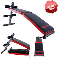 Ab Weight Crunch Sit up Folding Bench Gym Fitness Home Exercise Workout Training
