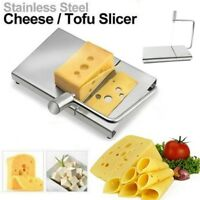 Stainless Steel Wire Cutter Cheese Tofu CakeCheese Slicer Cutter & Serving Board