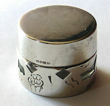 Sterling silver Covered Rouge / Ointment Pot