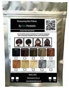 Natural Keratin Hair Building Fiber Refill For All Brands Hair Loss Balding Jars