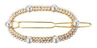 Ella Jonte kleine Haarspange gold weiß Perlen Haarclip Perle Haarklammer