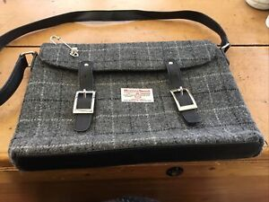 Handsome Harris Tweed Laptop Bag Excellent Condition
