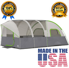 8 Person Ozark Trail Outdoor Camping 3 Room Tent Family Large Instant 20 14 9 X