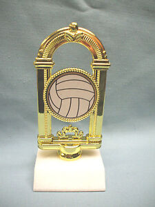 volleyball insert trophy shiny gold holder marble base