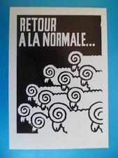 CPSM Affiche de MAI 68 DE GAULLE Revolution Mouton chevre  RETOUR A LA NORMALE