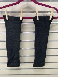 Uniqlo Leg Warmers Dark Gray Acrylic Knit One Size