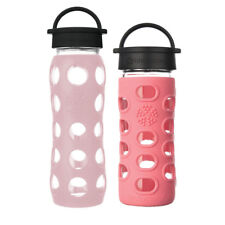 Lifefactory 12 oz. Coral Glass Bottle and 22 oz. Desert Rose Glass Bottle