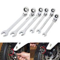 6Pcs Combination Wrench Spanner 6-12mm Ratchet Flexible Head Tool Set Garages