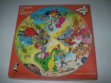 VINTAGE 1979 DISNEY 100 LARGE PIECE CIRCULAR JIGSAW PUZZLE by WADDINGTONS  591A
