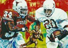 EARL CAMPBELL RICKY WILLIAMS Autographed Limited Edition Fine Art Print TEXAS