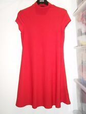 Ladies River Island Red Tunic Dress Size 8 (AO)