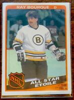 1984-85 OPC O-Pee-Chee Raymond Ray Bourque All Star #211 Boston Bruins -NM/MT.