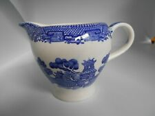 """Alfred Meakin Old Willow England Blue & White Pattern Milk Jug 3.5"""""""