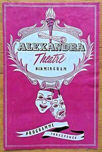 The Lovebird programme Birmingham Alexandra Theatre 1957 Jean Aubrey John Scott