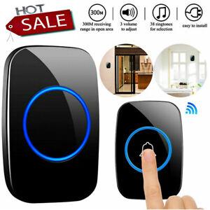 Wireless Doorbell, Plug and Play Waterproof Door Bell Kit Adjustable Volume
